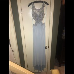 Open Back embellished prom gown